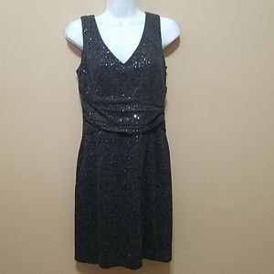 Muse gray fitted cocktail sheath sequin dress 6